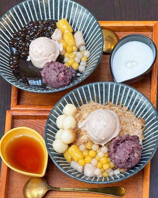 【台中美食】神仙堂嫩仙草專賣店!柳川步道!便宜又大碗的挫冰!