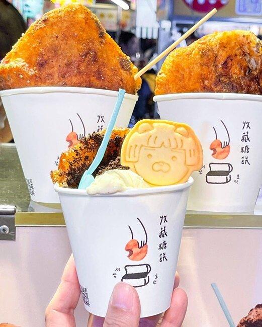 【台南美食】台南花園夜市!台南大東夜市!出現了韓國糖餅!