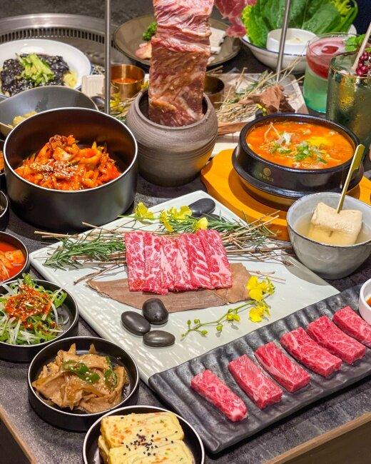 【信義美食】新開幕韓式烤肉餐酒館|夜景調酒|信義遠百『虎三同』