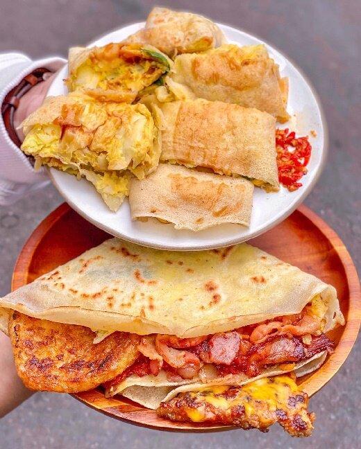 【台北美食】宋家蛋餅 土城美食 清水高中附近 早餐系列 三角形手拿蛋餅