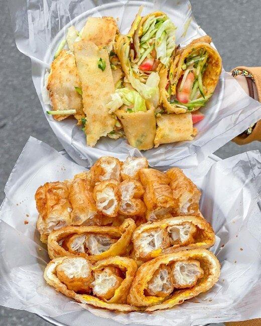 【桃園美食】國泰蛋餅早餐店 中壢高商 手工蛋餅 中壢美食