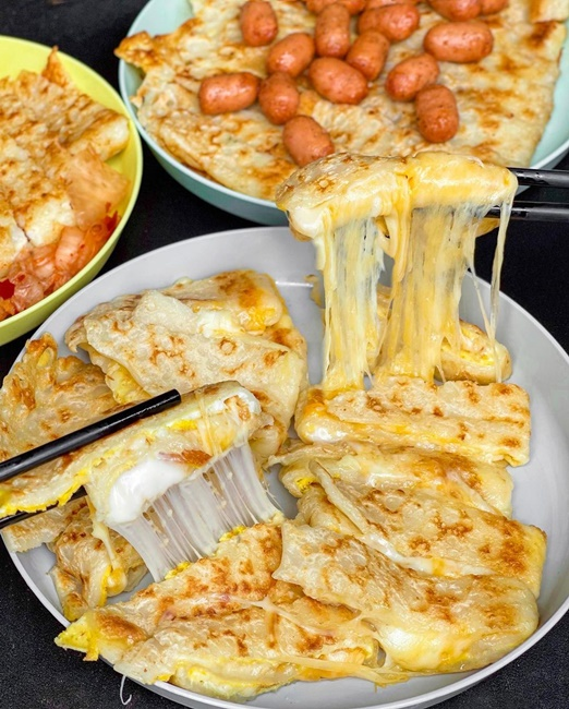 【台南美食】長北傳統蛋餅 台南早餐 雪瀑起司蛋餅
