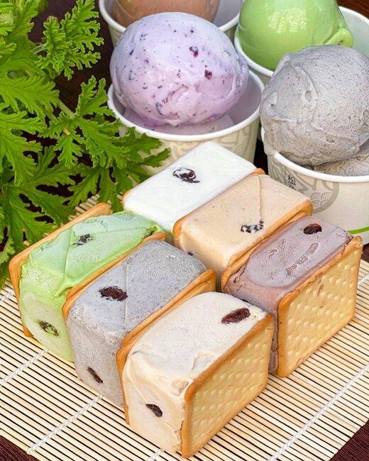 【台中美食】松盈傳奇冰淇淋 三明治冰淇淋 古早味冰 宅配美食
