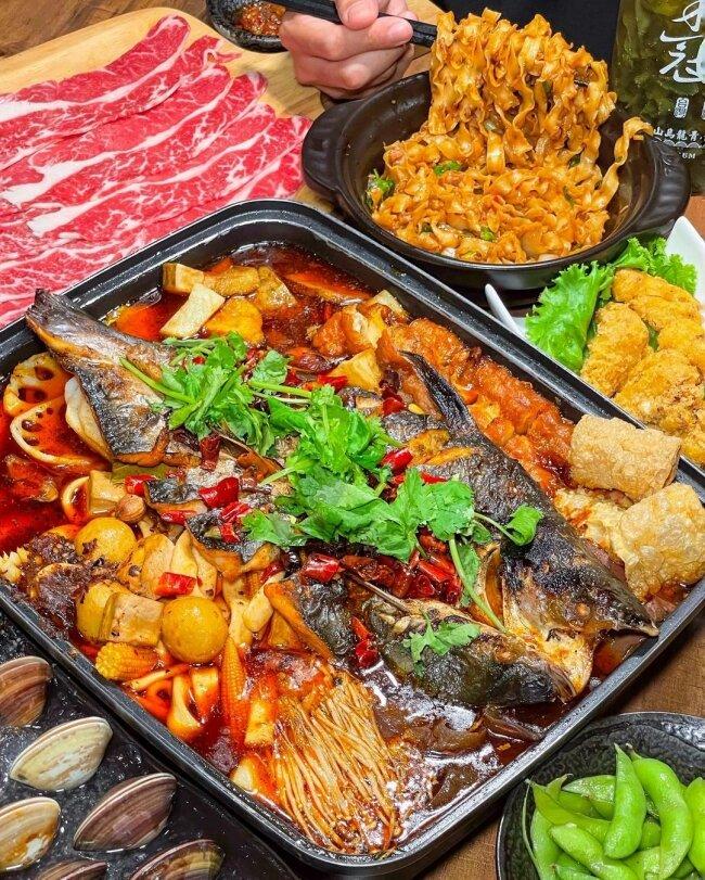 【台北美食】伙房烤魚  中正區美食  川味烤魚  麻辣口感